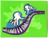 13 Piano Lessons Can be Murder 1996 Merlin 16 sticker