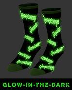 Fright Rags Glow in the Dark Goosebumps socks