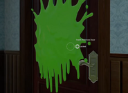 Monster Blood stuck on door DONG