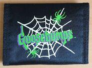 1996 green logo spiderweb black folding wallet