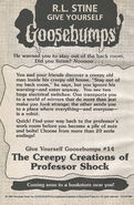 GYG 14 Creepy Creations Professor Shock bookad from OS51 1997 1stpr