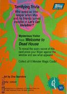 Monster Magic 1 Dead House trading card back