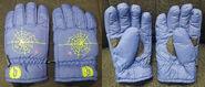 Spiderweb purple winter gloves f+b