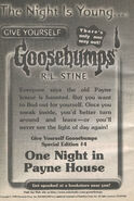 GYG Special Ed 4 One Night at Payne House bookad from s2000 09 1998