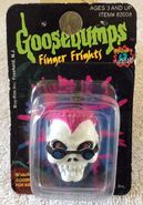Curly finger frights ring in box front