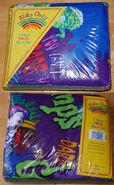 Kids Only 3-piece Twin Sheet set purple in pkg f+b