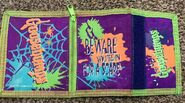 Beware Youre In for a Scare 1997 purple fold wallet