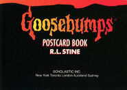 Goosebumps Postcard Book I title page