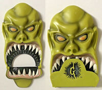 Haunted Mask Petrified Protractor open + closed mouth