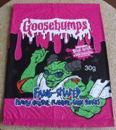 Horror 2003 Prawn Corn Snacks Red Mill UK packaging