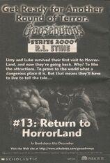 S2000 13 Return to Horrorland bookad from s2000 12