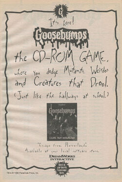 Escape from Horrorland CD-ROM game bookad from orig series 54 1997.jpg