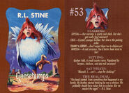 Goosebumps 53 Chicken Chicken trading card front and back