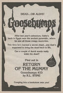 OS 23 Return of the Mummy bookad from OS22