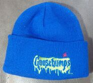 Goosebumps blue spider beanie hat