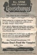 GYG 15 Please Dont feed Vampire bookad from OS52 1stpr 1997
