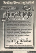 GYG 28 Night Thousand Claws bookad from s2000 05 1998 1stpr