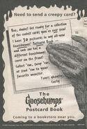Goosebumps Postcard Book bookad from OS42 1996