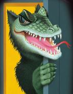 Swamp Monster French Artwork