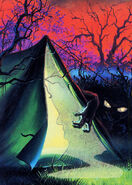 09 Camp Nightmare Glow Dark Topps Trading Card