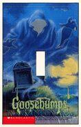 Goosebumps 34 Revenge Lawn Gnomes light switch cover sticker