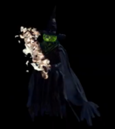 Flame throwing witch