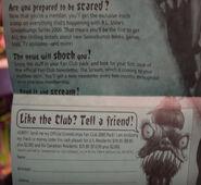 Fan Club 2000 Welcome Letter closeup