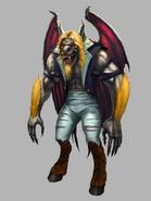 Bat Goat Werewolf hybrid form for Nightwing