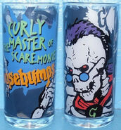 Curly Scaremonies 1997 glass cup f+b