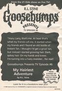 Presents TV ep 06 My Hairiest Adventure bookad from OS49 1996 1stpr