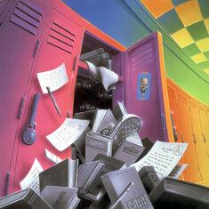 The Haunted School - artwork