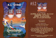 Goosebumps 52 How I Learned to Fly trading card front and back