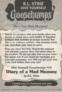 GYG 10 Diary Mad Mummy bookad from OS47 1996 1stpr