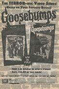 Goosebumps video TV series bookad from orig series 51 1997