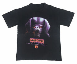 32 Barking Ghost GB red drippy logo black 90s T-shirt.jpg