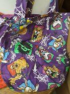 1997 Cuddles Curly Mud Hare Beast purple cloth bag