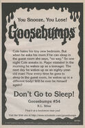 OS 54 Dont Go to Sleep bookad from OS53