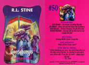 Goosebumps 50 Calling All Creeps trading card front and back