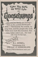 OS 16 One Day at Horrorland bookad from OS15