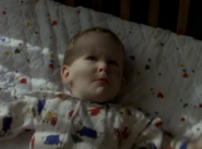 Michael Webster as a baby