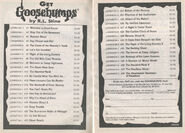 Goosebumps 1-38 booklist Get Gb 2p from OS 38