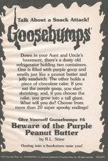 GYG 06 Beware Purple Peanut Butter bookad from OS43 1996 1stpr