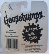 Gruesome Glue sticks in pkg back