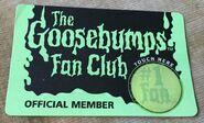 1995 Fan Club Membership card