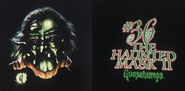 36 Haunted Mask II only 90s Giant black T-shirt f+b detail
