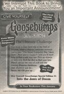 GYG Special Ed 1 Into the Jaws of Doom bookad from s2000 01 1998