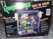 1996 Pinch the Horror Arcade Claw game pkg back