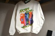 46 Home Alone with Monster sweatshirt