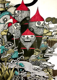 Planet of the Lawn Gnomes - Korean Artwork