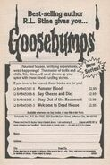 Goosebumps 1-4 booklist New Series from OS 2
